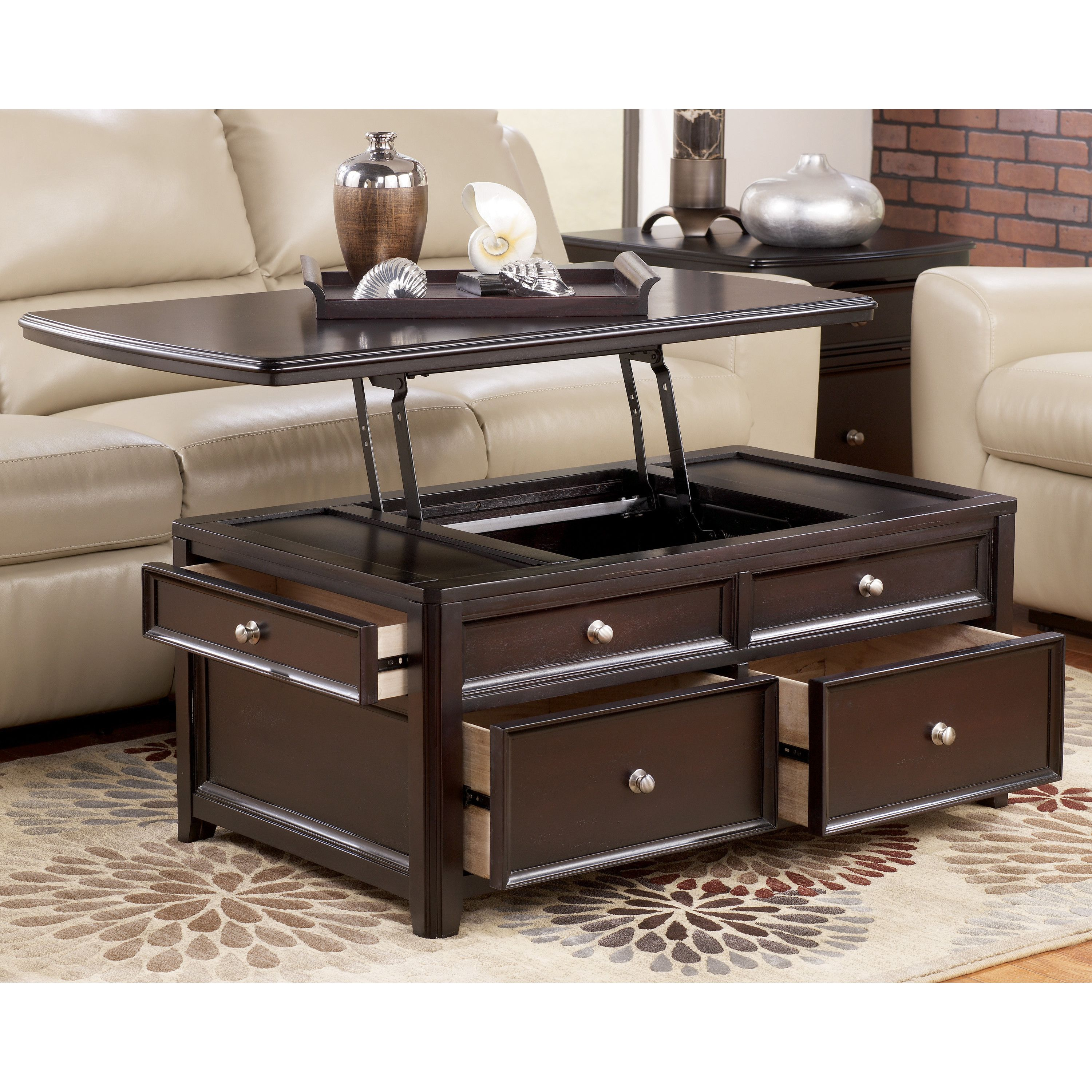 Darby Home Co Han Trunk Coffee Table With Lift Top