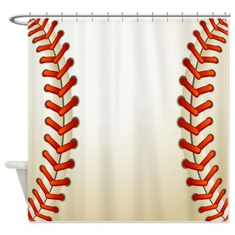 Baseball Texture Ball Shower Curtain Than Make It Into A Curtain