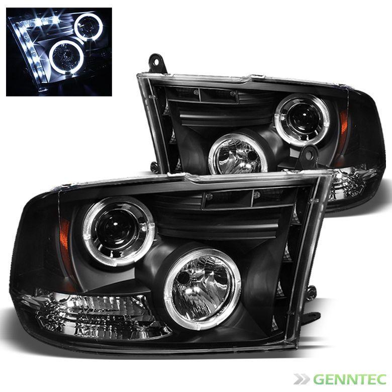 For 20092014 Dodge Ram Dual Halo LED Pro Headlights Black