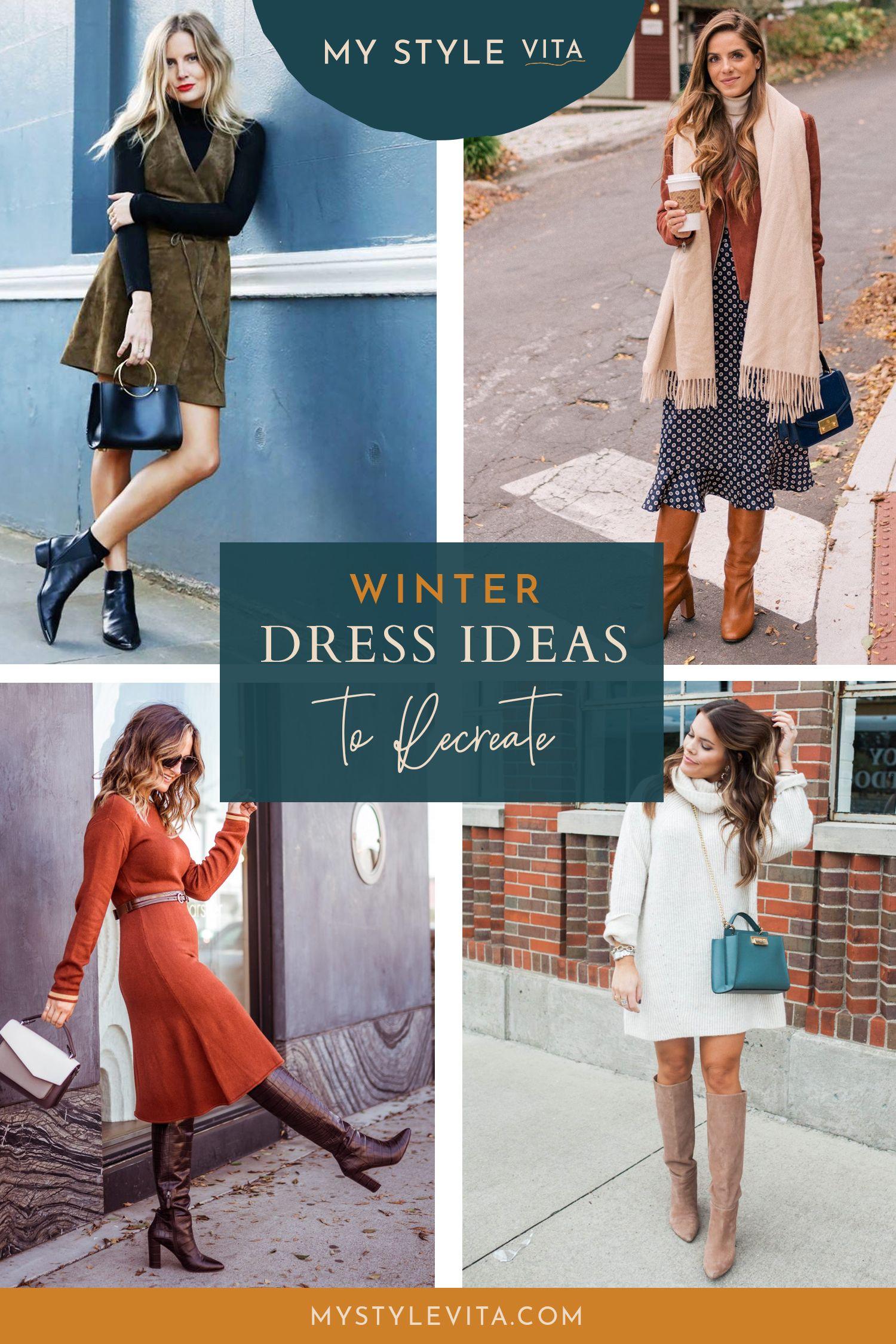 13+ How to wear a dress in winter ideas