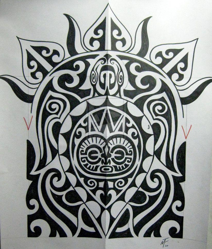 Maori Art Tattoo Designs: Polinesian Turtle Tattoo Maori Design 824x968 Pixel
