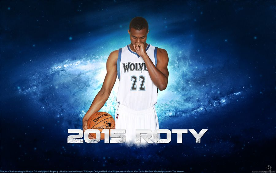 Hd Widescreen Wallpaper Of Andrew Wiggins  Nba Rookie Of The Year