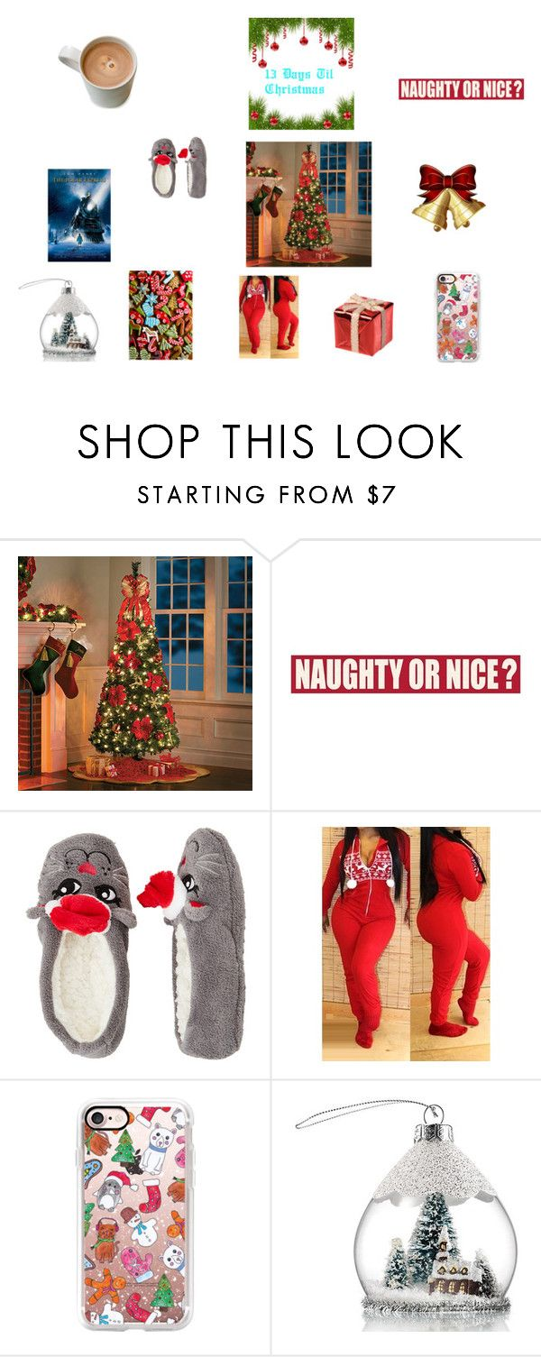 """Til Christmas"" by quaneshajones ❤ liked on Polyvore featuring Improvements, Sixtrees, Capelli New York, Casetify and Avon"