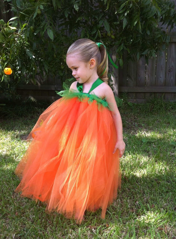 Little Pumpkin Tutu Halloween Costume 12m-5T. $49.95, via Etsy.