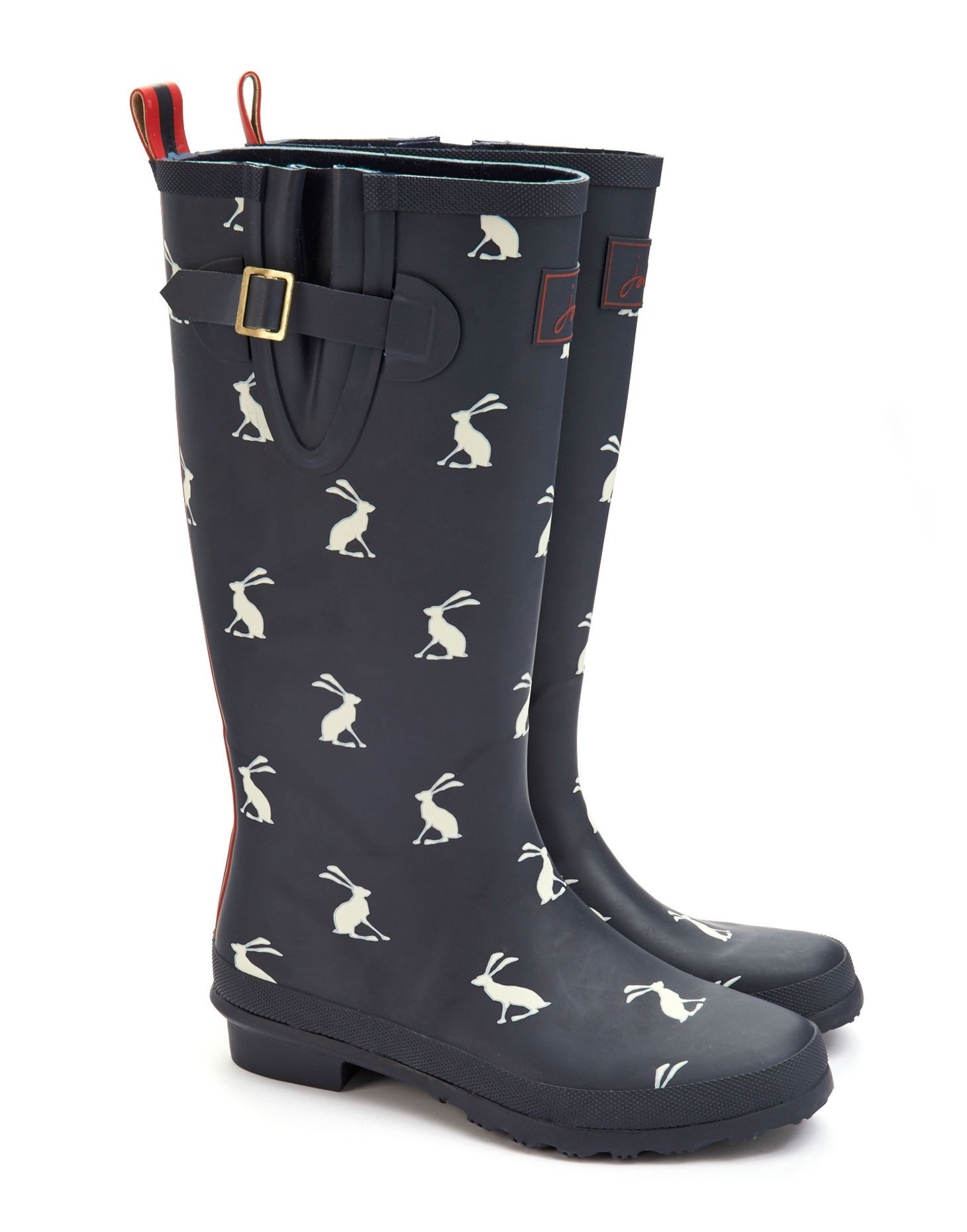Joules Womens Printed Welly, Navy. Make a splash in style with this classic  Joules