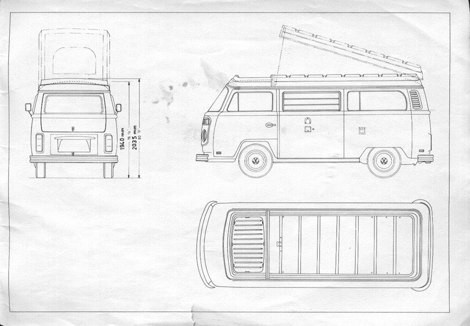 pin by rob ellis on vw t2 line drawings