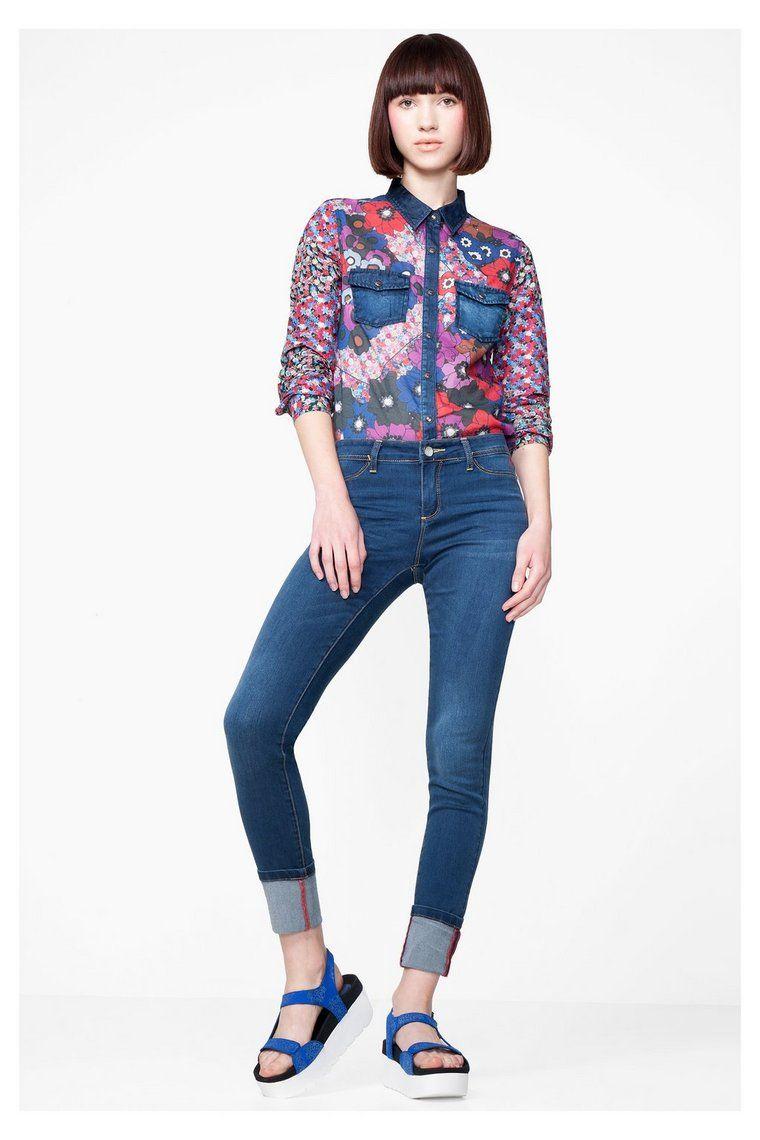 Women's denim and floral shirt | Desigual.com 5099