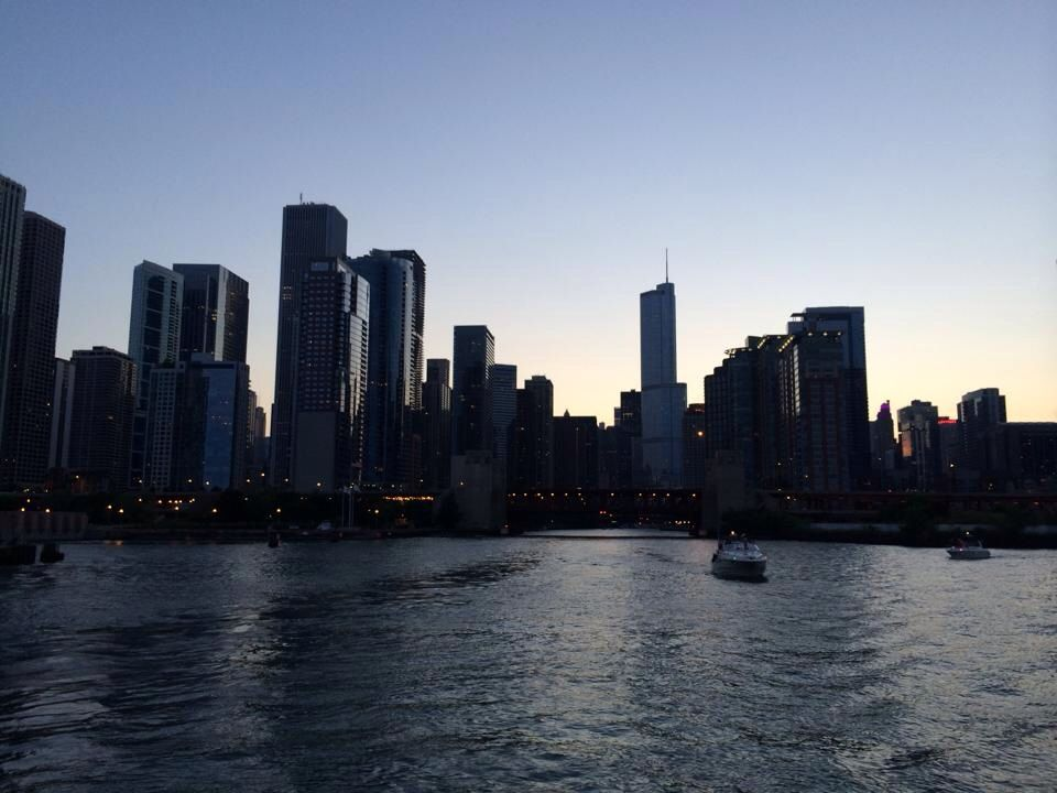 Chicago Water Front Sunset
