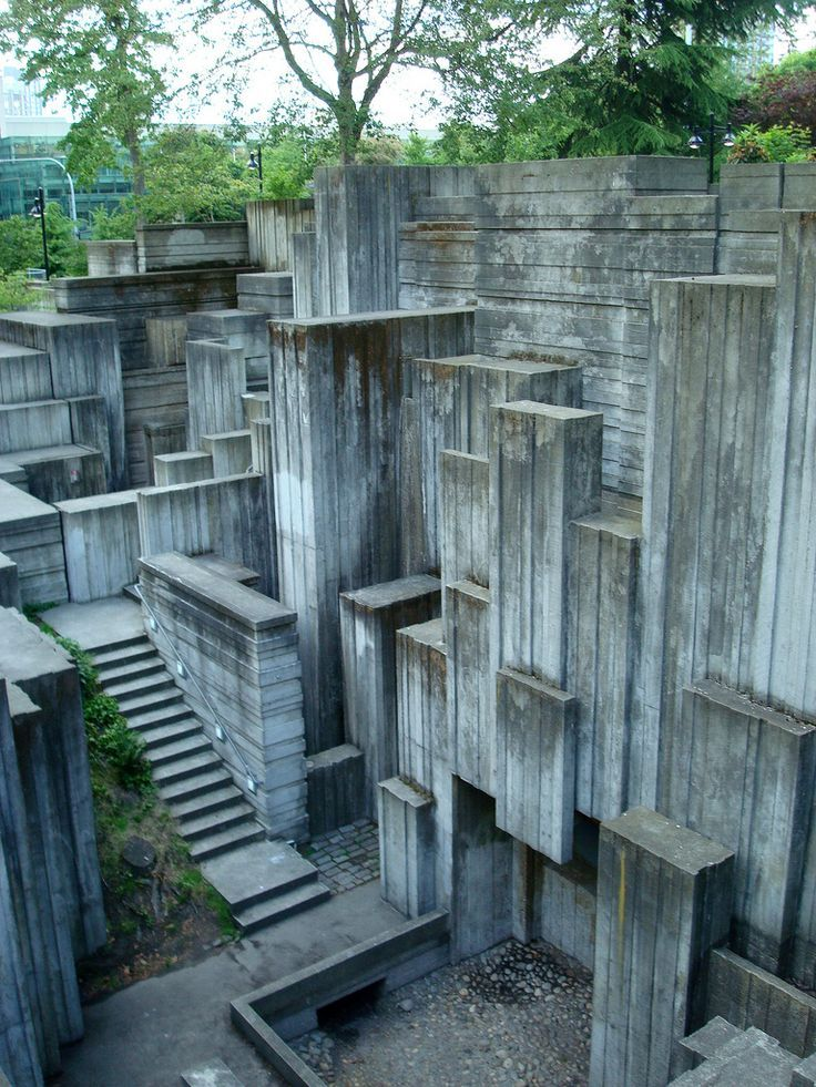Freeway Park Seattle Washington Usa Architecture And