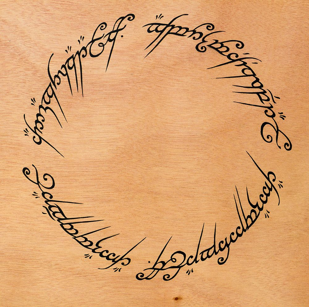 Lord Of The Rings Ring Inscription Stencil