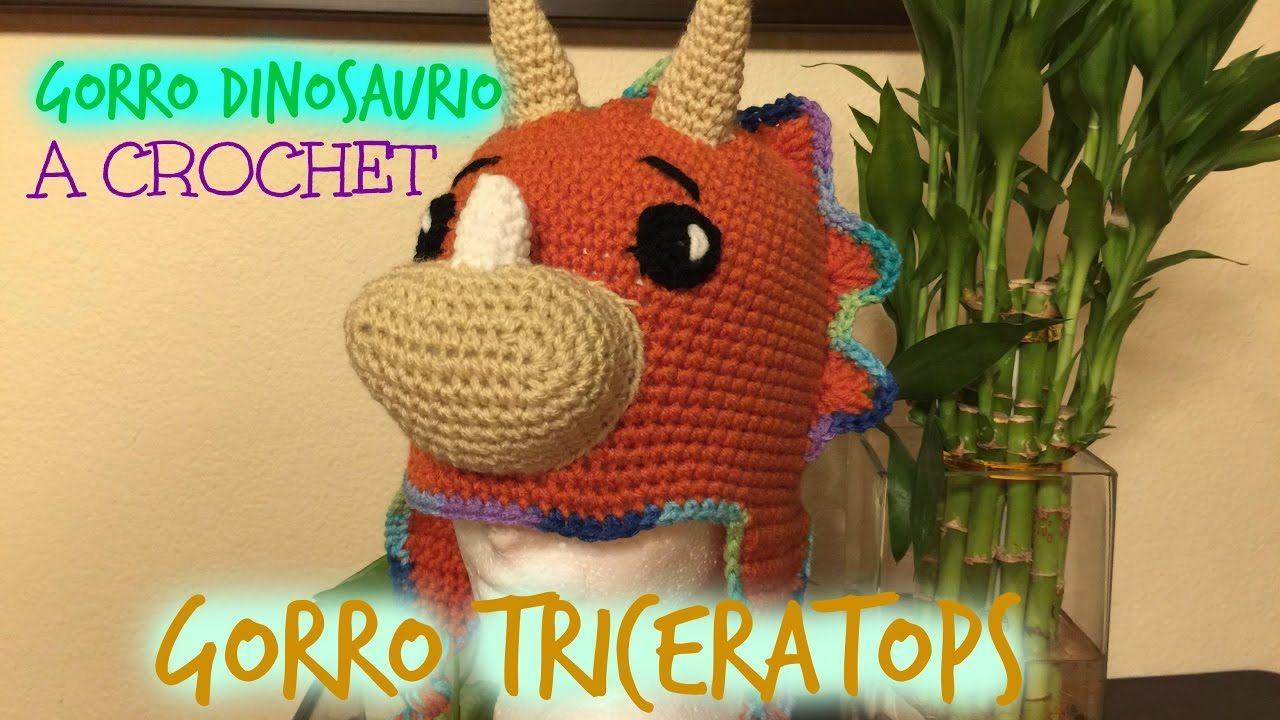 Gorro Dinosaurio a Crochet | gorro | Pinterest