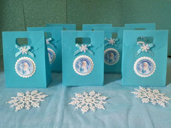 10 Frozen Party Favor, Frozen Treat Bags