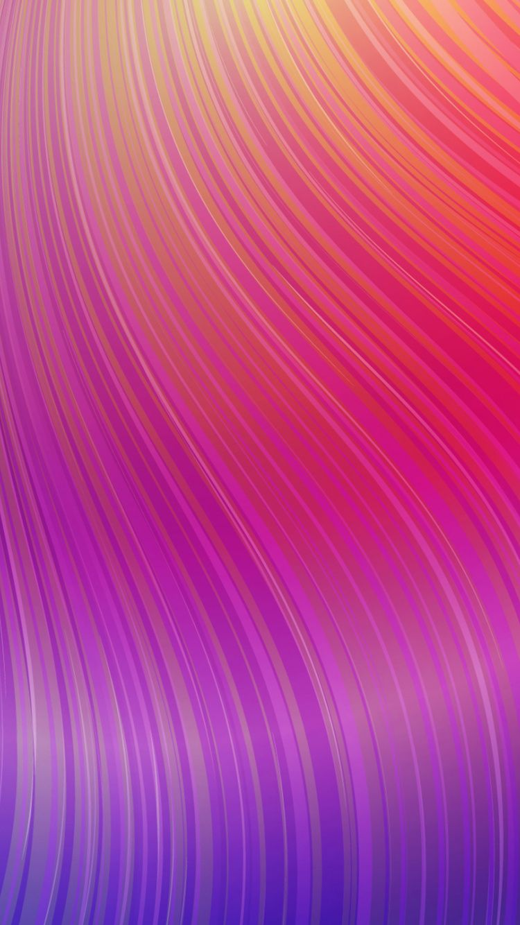 Download 750x1334 Wallpaper Colorful Waves Abstract Lines