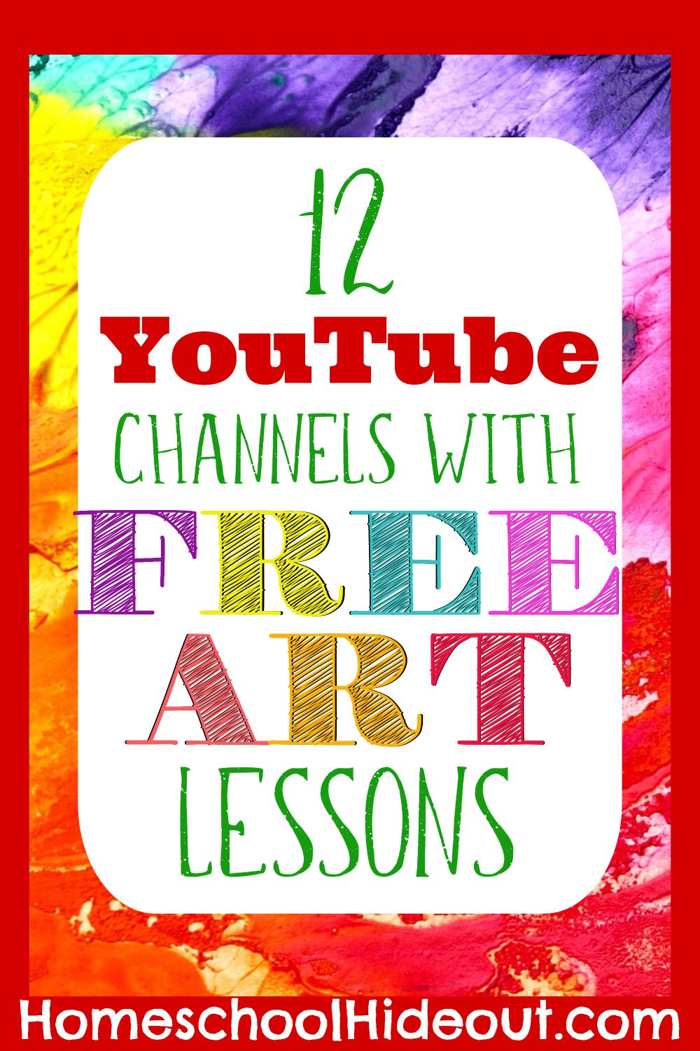 12 Art Lessons on YouTube Your Kiddos will Love | Art lessons for ...