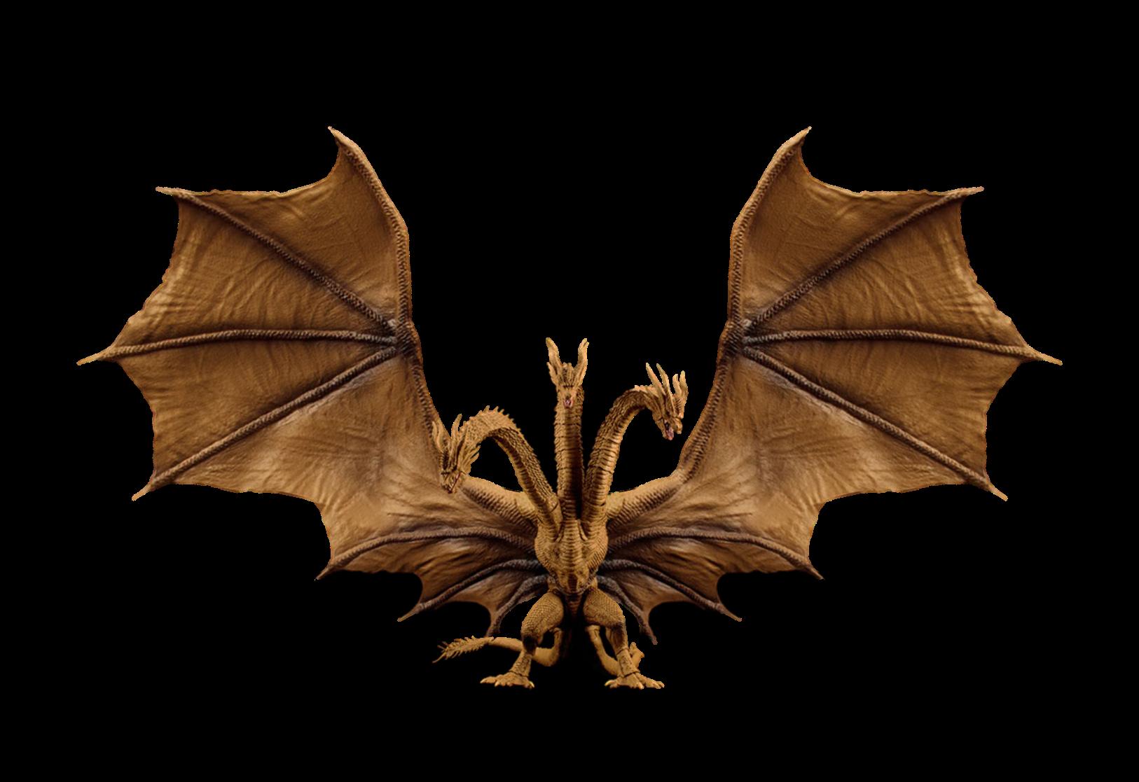 Sh Monsterarts King Ghidorah Transparent By Lincolnlover1865 On Deviantart Sh Monsterarts Interactive Art Transparent