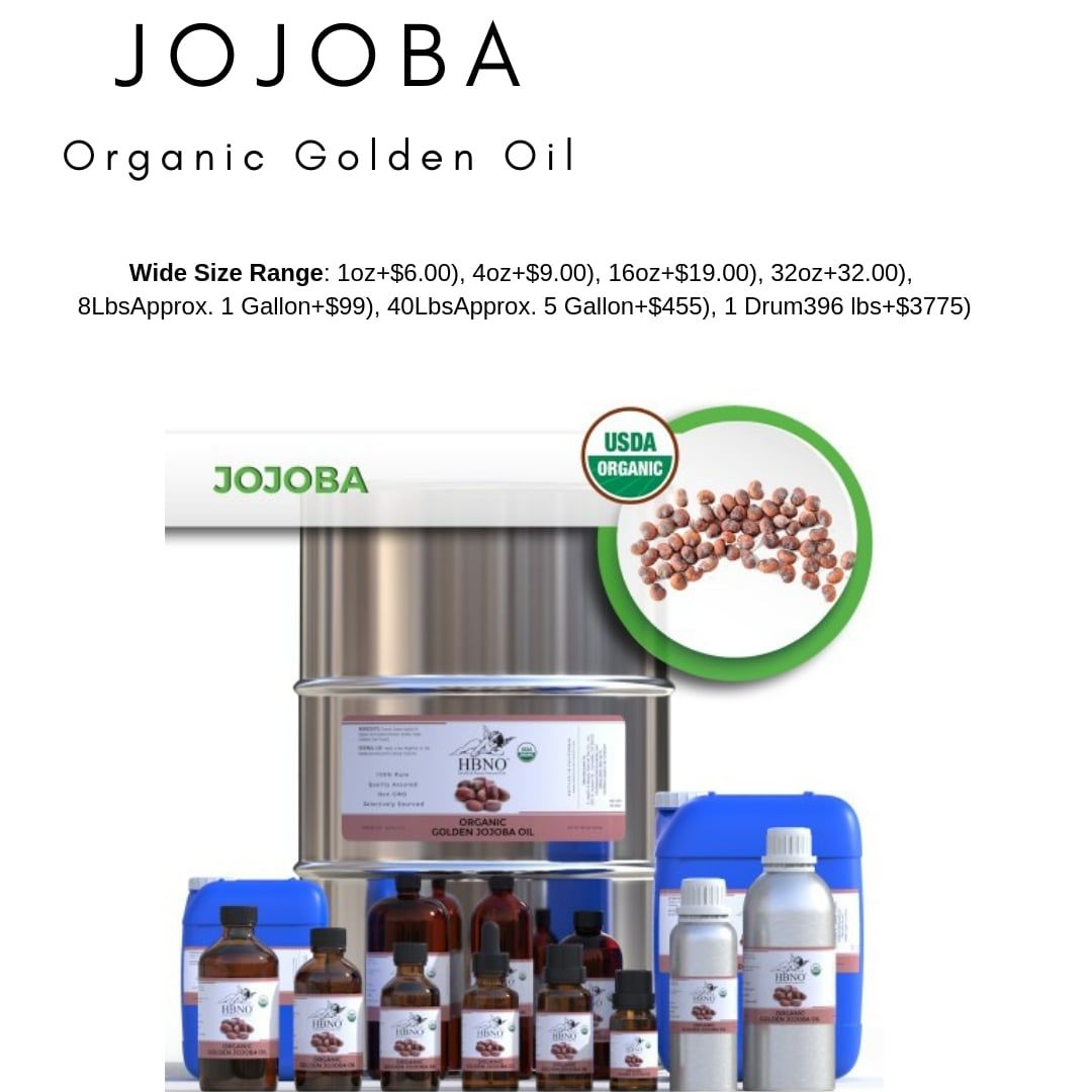 Shop Now! HBNO™ Organic Jojoba Oil - 100% Pure & Natural #jojobaoil