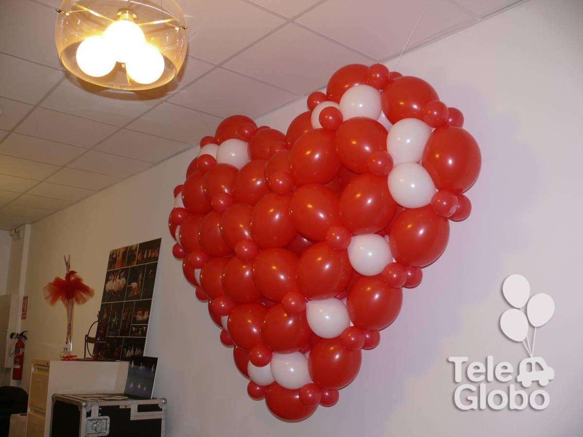 Coraz n de globos gigante para san valent n cumple - San valentin decoracion ...