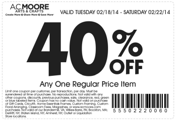 Michaels Joanns Hobby Lobby And Ac Moore Coupons New Giveaway Ac Moore Printable Coupons Free Printable Coupons