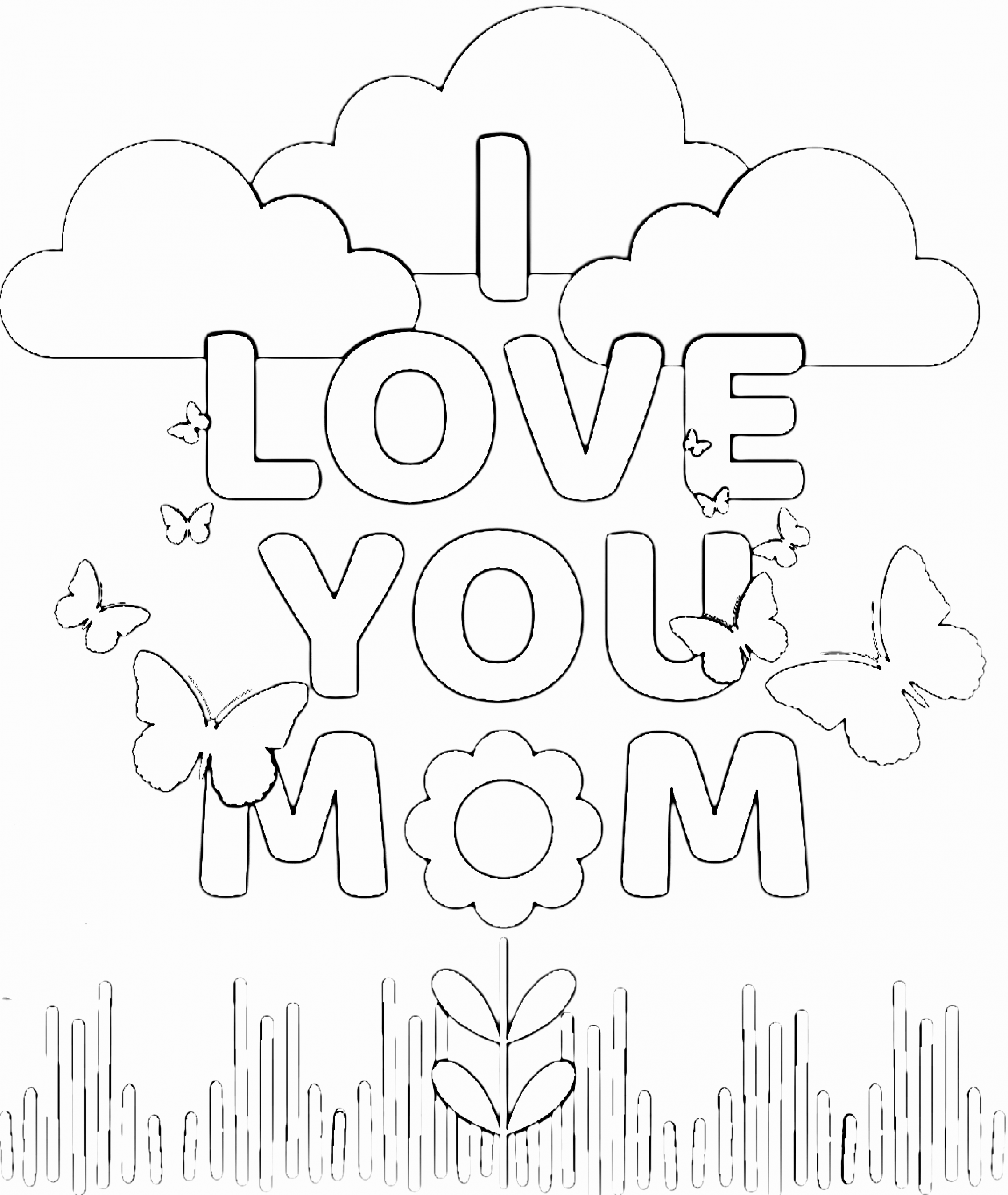 I Love Mom Coloring Page Lovely Free Printable Color Pages For Mom Simple Mom Proje In 2020 Mom Coloring Pages Mothers Day Coloring Pages Free Printable Birthday Cards