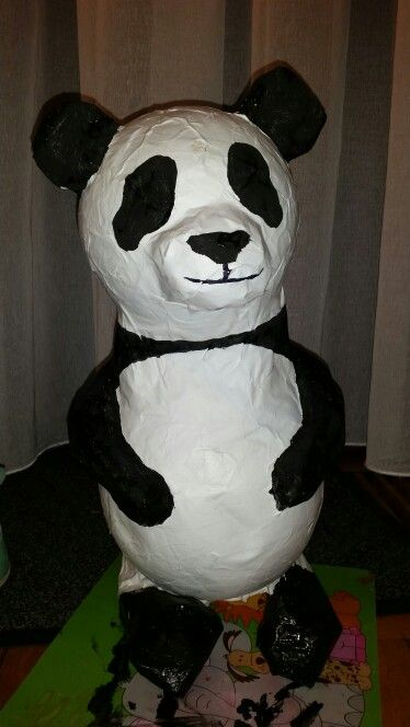 Surprise Panda Papier Mache Animal Project Pinterest