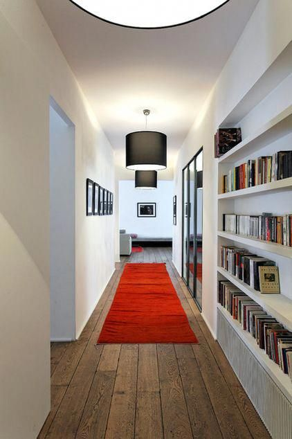Hall by antonio virga architecte if you  re worried  large red area rug will look too overwhelming in your living or bedroom but also rh pinterest