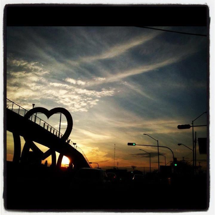 HEART AT SUNSET