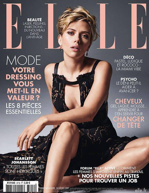 Scarlett Johansson en couverture de ELLE cette semaine