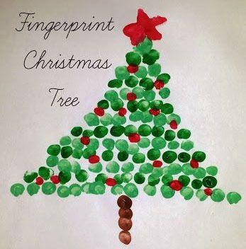 Fingerprint Christmas Tree Preschool Christmas Christmas Crafts Christmas Art Projects