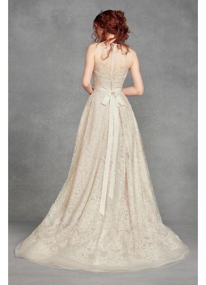 233ba33a5adf White by Vera Wang Macrame Lace Wedding Dress Style VW351400, Ivory ...