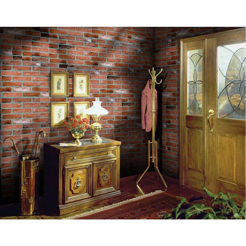 1 4 in x 48 in x 96 in kingston brick hardboard wall panel 278844 our house brick wall. Black Bedroom Furniture Sets. Home Design Ideas
