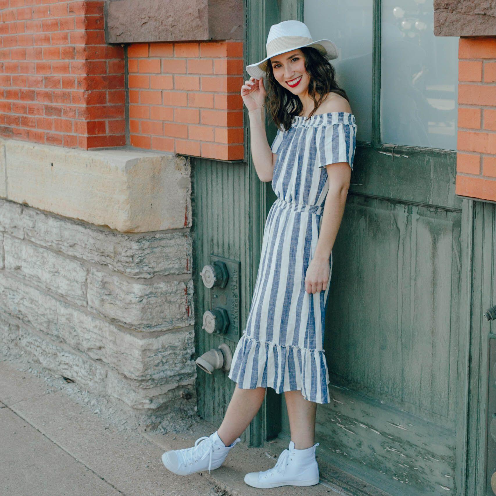 Midi Dress Style Styling Summer Dress With Sun Hat Target Sun Hat Target Style Summer Dress Midi Dress Style How To Style High Top Sneakers Summer Fashion [ 1707 x 1707 Pixel ]