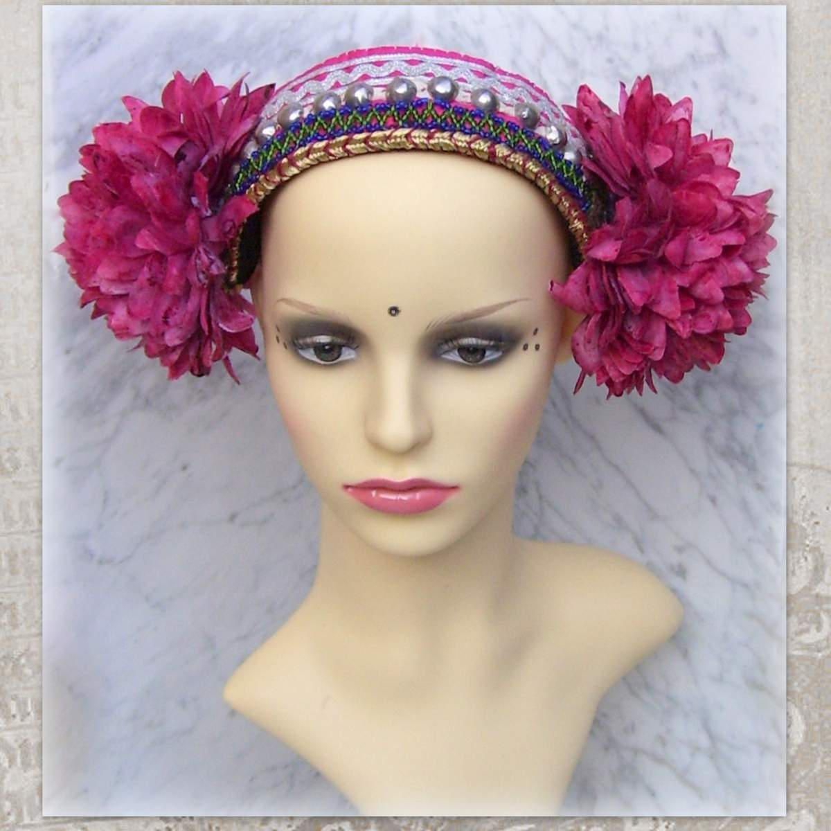 ba6cf97f1 Ethnic Beading Rivets Dance Headwear Accessory Stage Performance ...