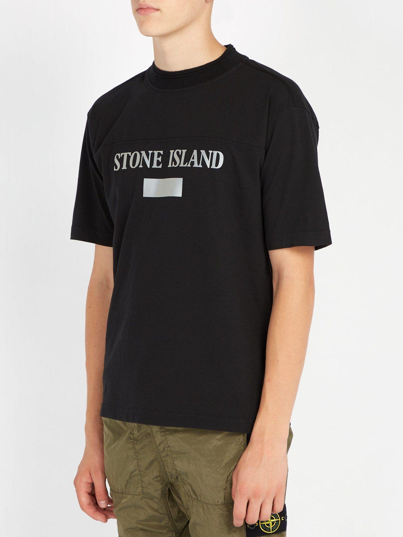 Reflective Panel Cotton Jersey T Shirt Stone Island Matchesfashion Com Uk Stone Island T Shirt Shirts