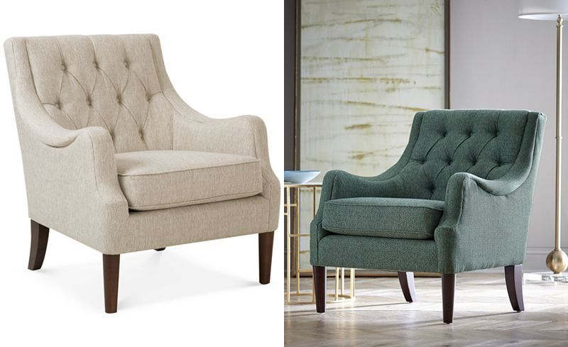 Furniture Glenis Tufted Accent Chair Reviews Chairs