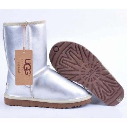 UGG Metallic Classic Short Boots 5842 Silver ,۞✄…… Prepared For this  Christmas Holiday`.