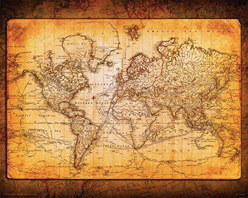World Map Antique Vintage Old Style Decorative Educationa   - new antique world map images