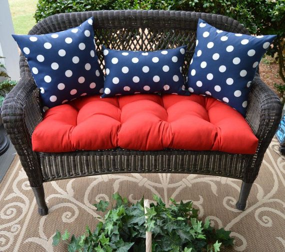 4th Of July Patriotic Cushion Pillow 4 Pc Set For Loveseat