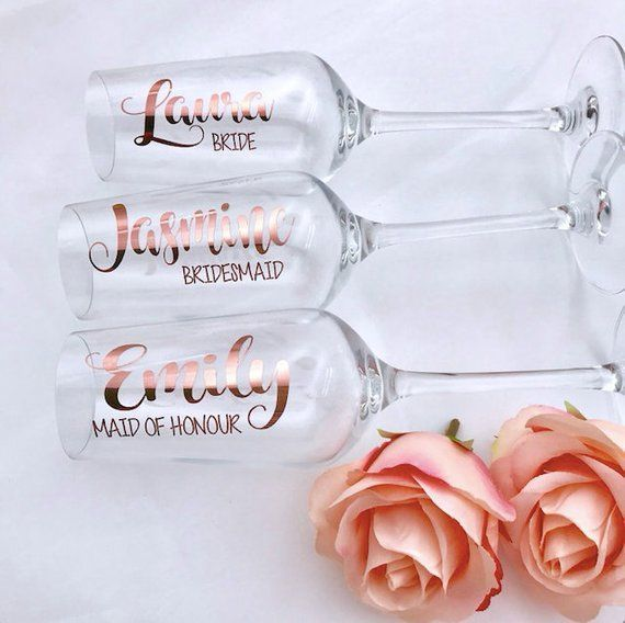 hen party-bridal shower-wedding favour-bridal party Champagne Flute Decals