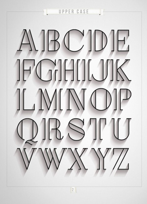 London by Antonio Rodrigues Jr, via Behance I like this typography because it looks classy and vintage. It reminds me of a type you would see on an old time black and white movie. It gives more depth to the letters by having the extra lines in the them. Its simple but bold at the same time.