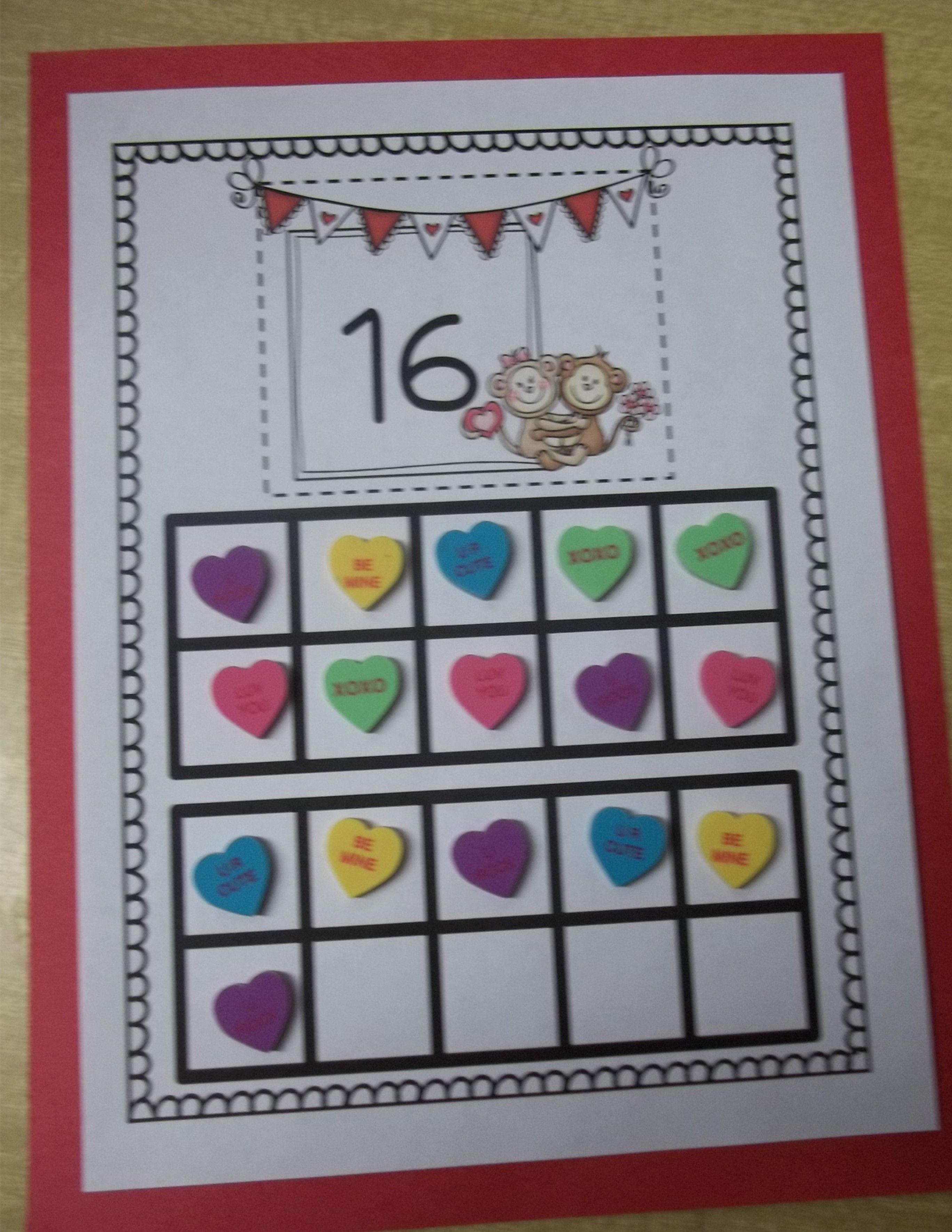 Ten Frames For Valentine S K Nbt 1