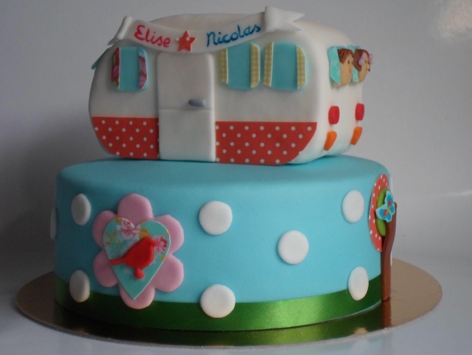 Caravan Klikmobiel birthday cake