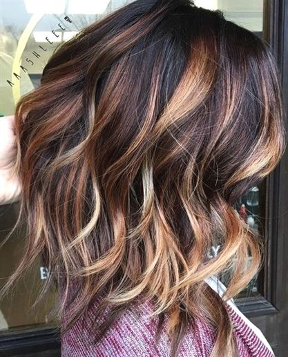 Blonde Ombre Hair Color Summer Dark Brown With Caramel And Blonde