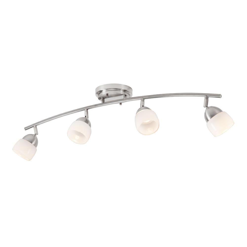 SunRay 30.1 in. 4Light Brushed Nickel Integrated LED