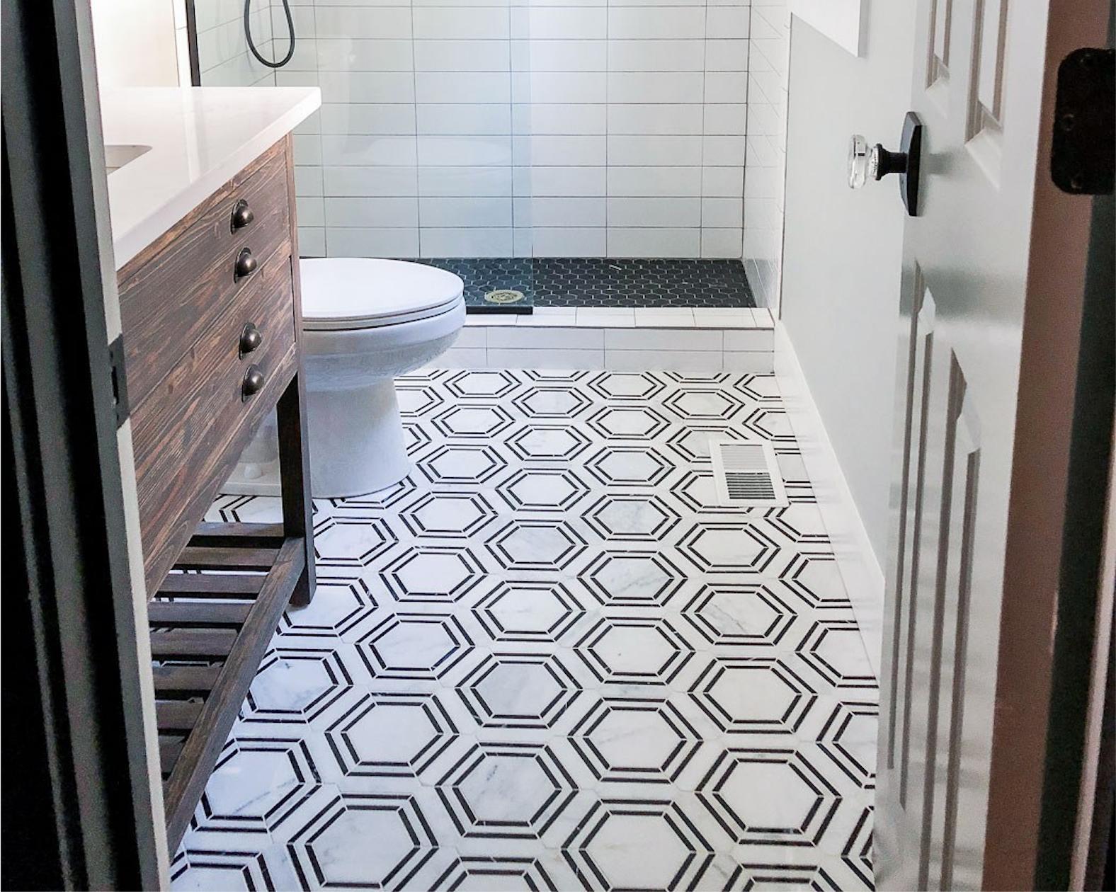 Pin On Hexagon Mosaic Tile