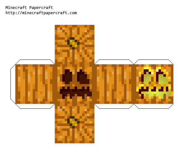 Papercraft Pumpkin Jack O Lantern Minecraft Pumpkin Minecraft Crafts Paper Crafts