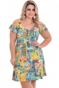0c3cf619d Vestido Plus Size País Tropical