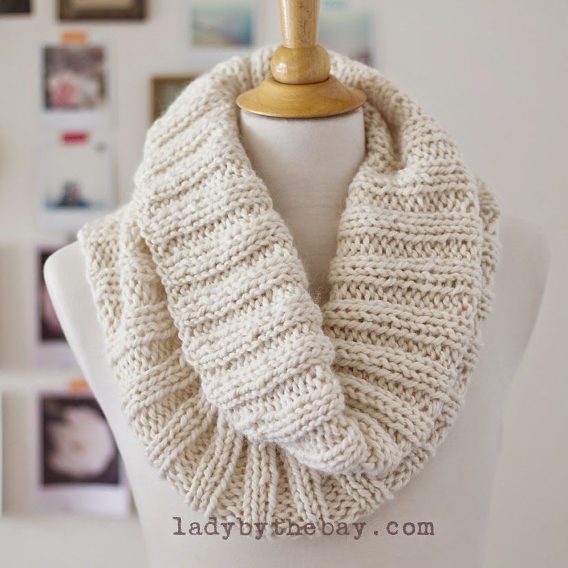 Rib Knit Scarf Pattern : Cozy Ribbed Scarf Pattern Knitting, Cowl scarf and Stitches