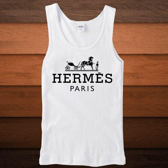 Hermes LogoTank Top Brand Fashion Tank Top Women Tank by SuzanTee, $18.50