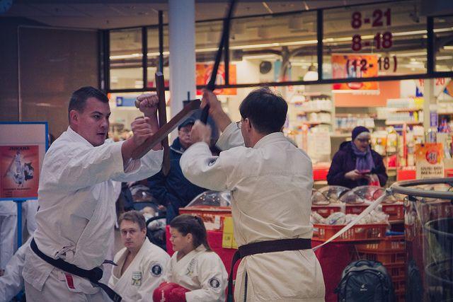 Vantaan Jukaran järjestämä judo-, karate- ja aikido-näytös kauppakeskus Myyrmannissa 22.1.2011      right here at Fredericksburg Martial Arts School http://www.shaolinkungfucenter.com