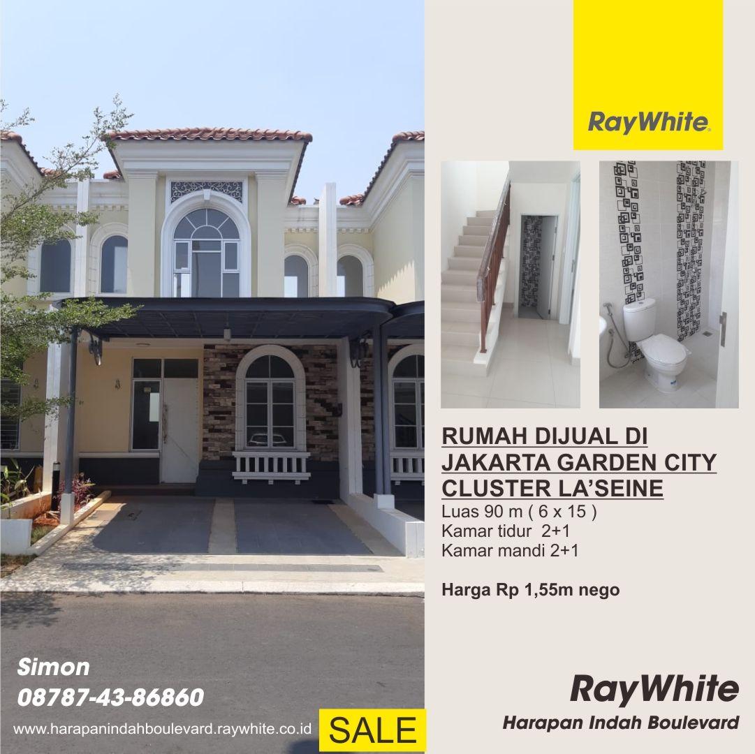 Rumah dijual di Cluster La'seine Jakarta Garden City di